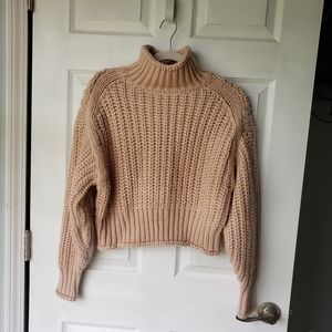 H + M Pale Pink Cropped Sweater